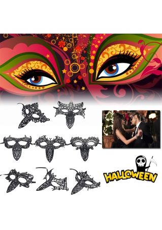 Solid Lace Hollow Out Halloween Party Mask