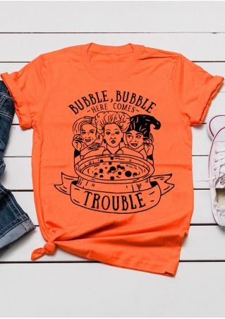 Bubble Bubble Here Comes Trouble T-Shirt Tee