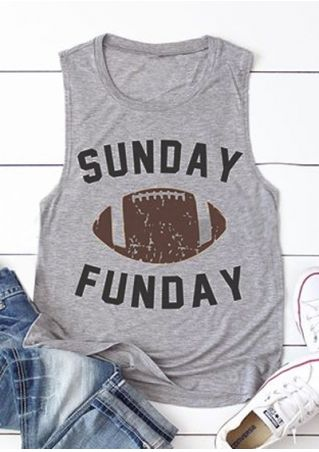 Sunday Funday Football Tank Top