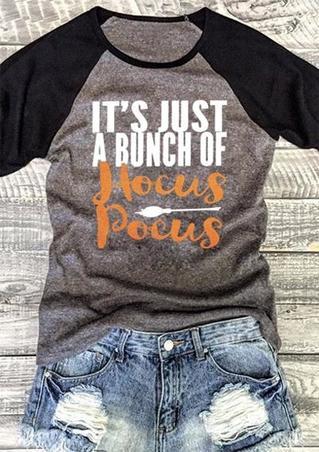 Halloween Hocus Pocus T-Shirt Tee - Gray