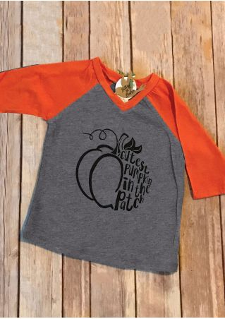 Mommy & Me Cutest Pumpkin In The Patch Baseball T-Shirt Tee