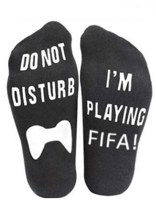 Do Not Disturb I'm Playing Fifa Socks