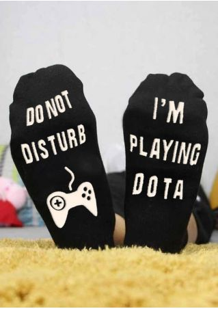 Do Not Disturb I'm Playing Dota Socks