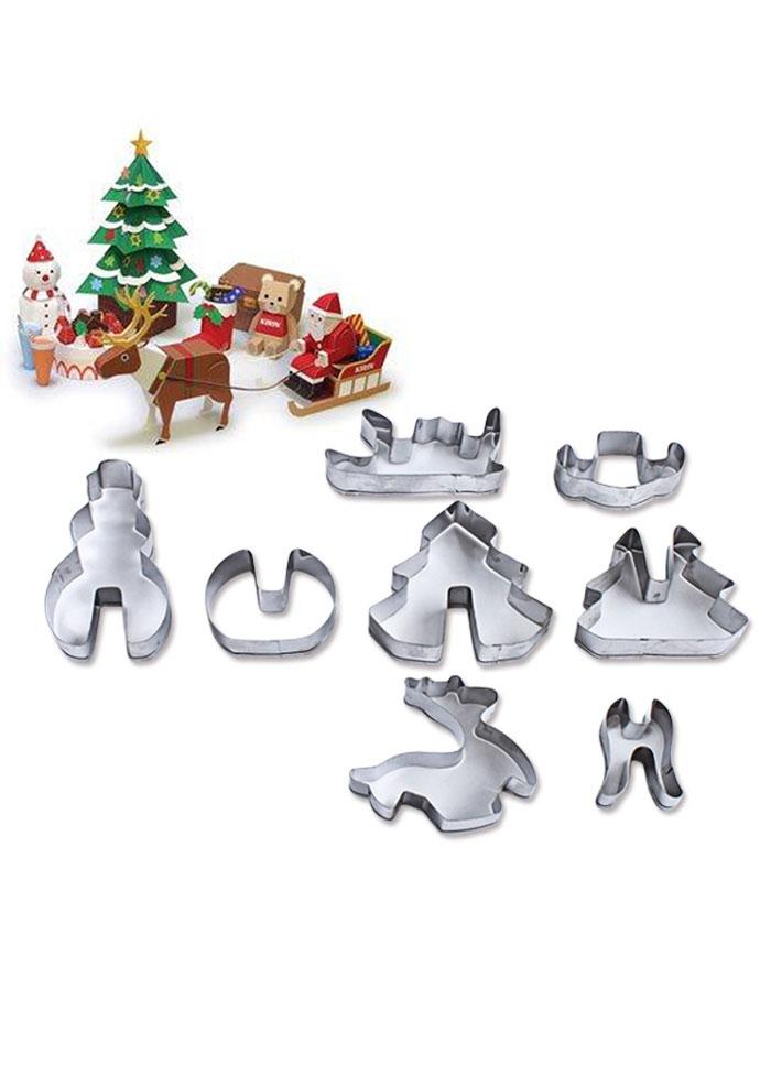 8Pcs Christmas Cookie Mould