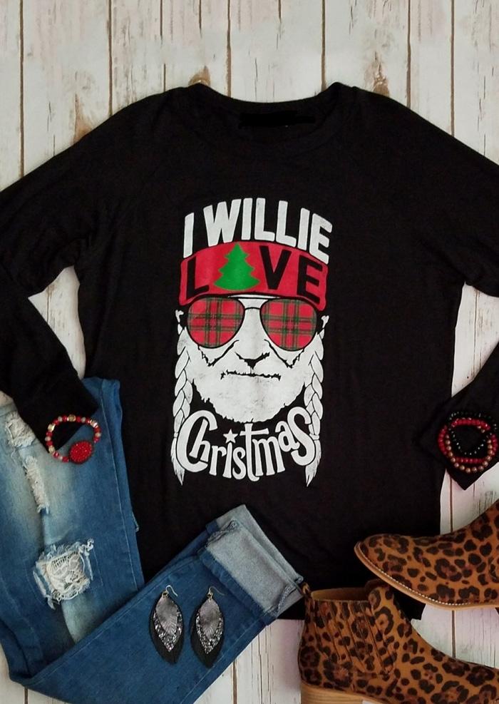I Willie Love Christmas T-Shirt Tee