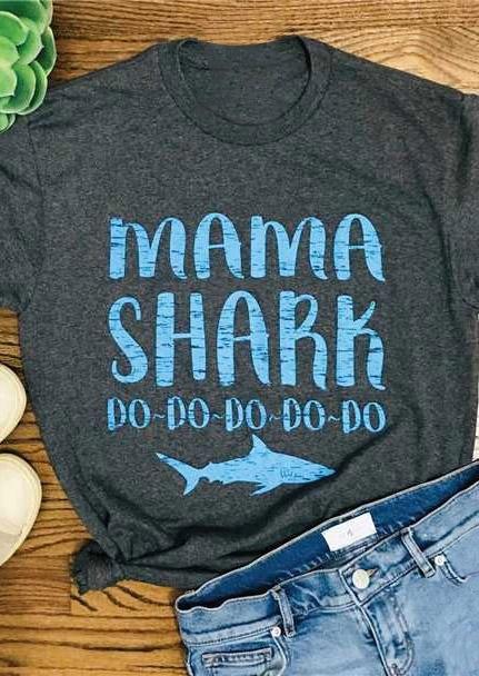 7f65d0acf Mommy and Me Mama Shark Baby Shark T-Shirt Tee - Fairyseason