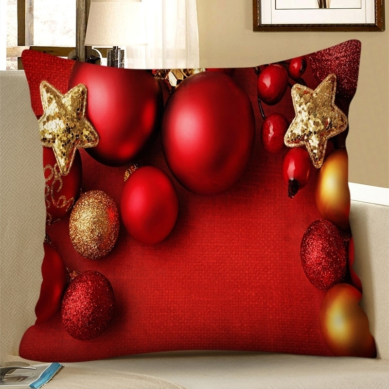 Image of Christmas Ball Star Pillowcase