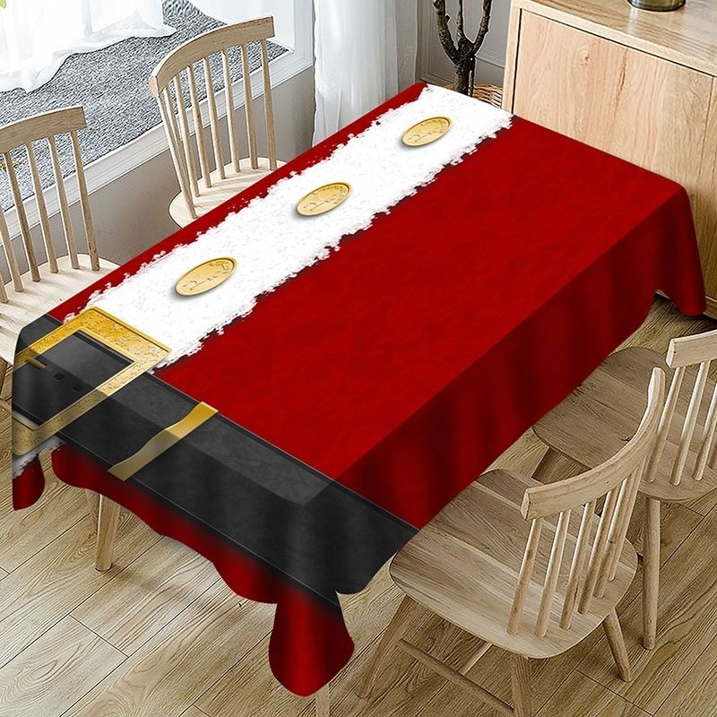 Image of Christmas Belt Pattern Table Cloth