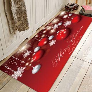 christmas ball snowflake water absorption area rug zoom
