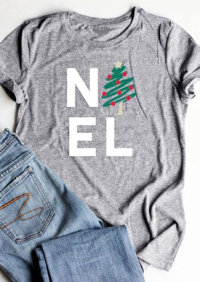 Christmas Tree Noel T-Shirt Tee