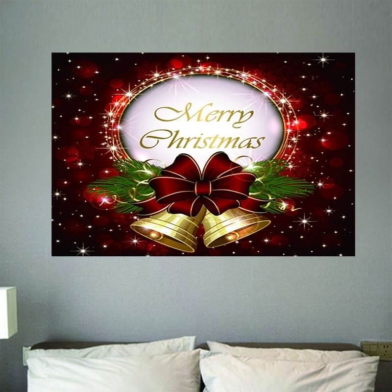 Image of Merry Christmas Bell Decorative Wall Sticker