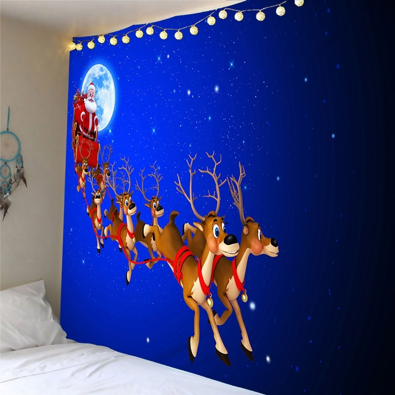 Image of Christmas Reindeer Waterproof Wall Tapestry