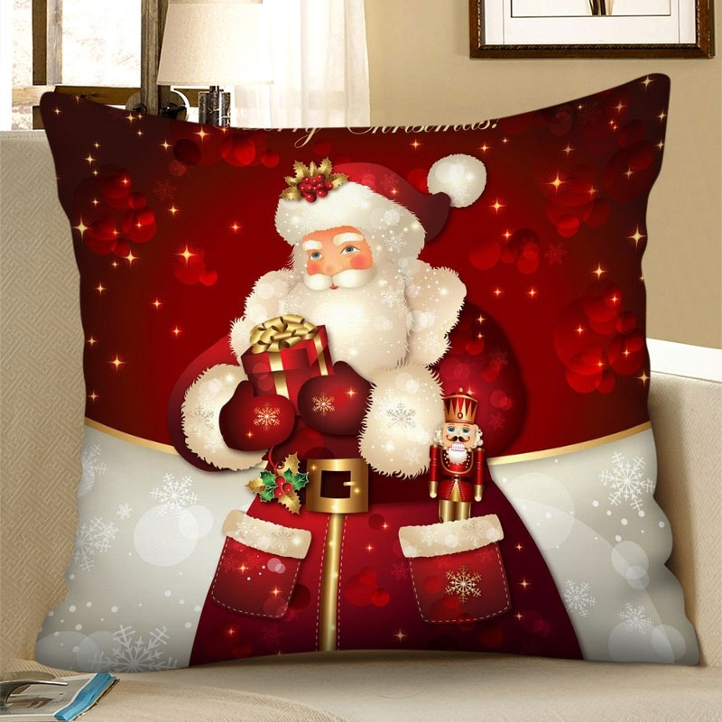 Christmas Santa Square Pillowcase