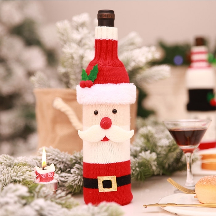 Christmas Santa Claus Wine Bottle Decoration Cover
