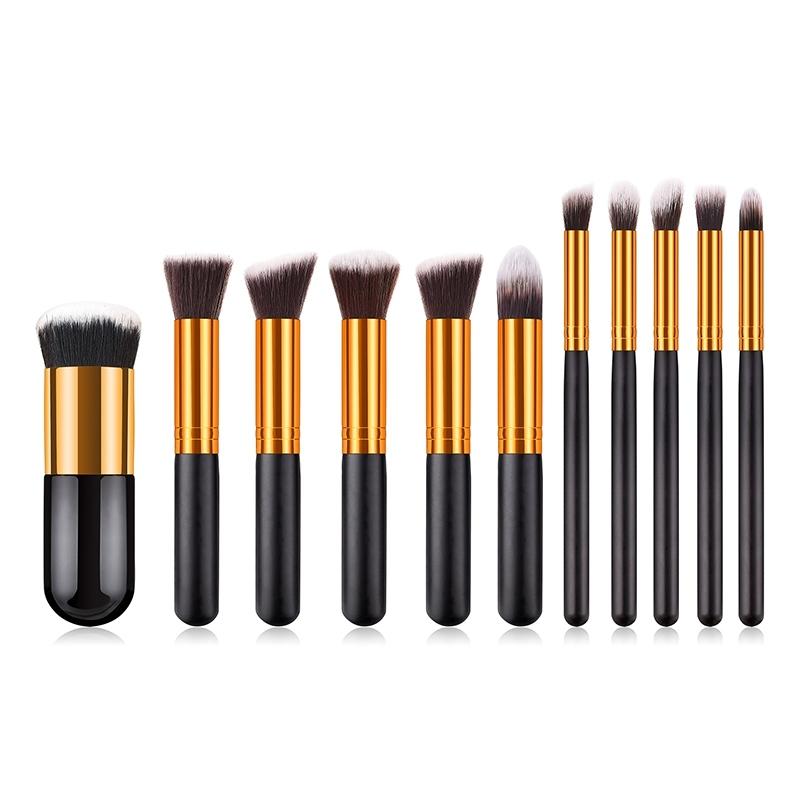 Image of 11Pcs/Set Professional Makeup Tool Face Powder Brush
