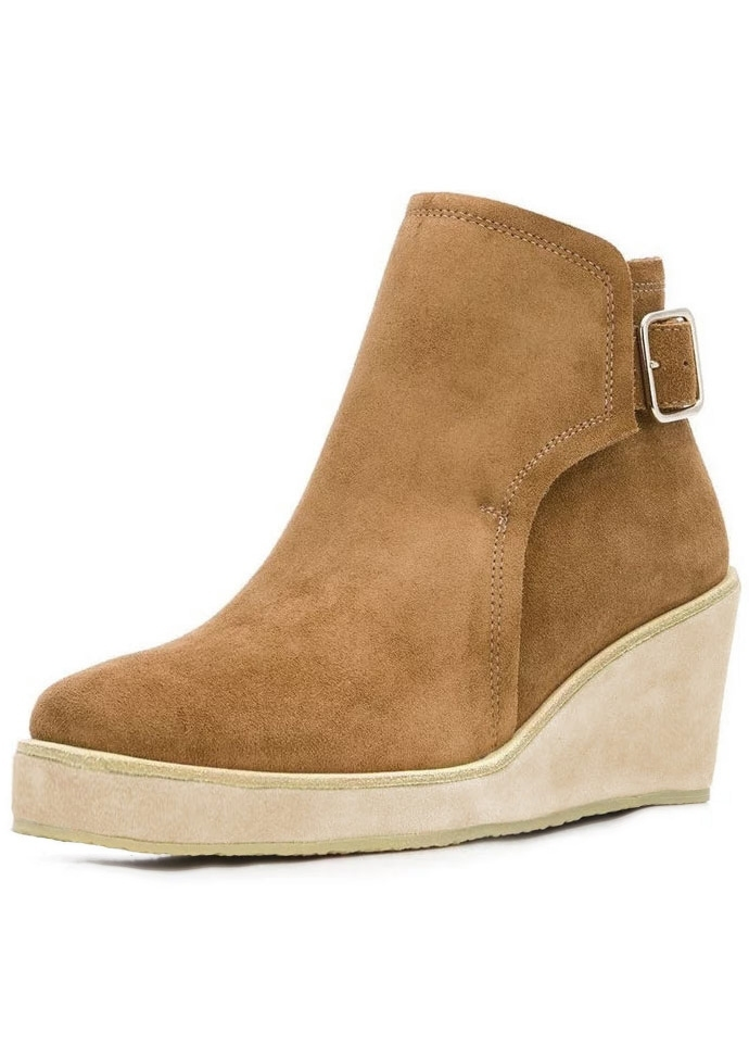 Image of Buckle Strap Heeled Fashion Boots