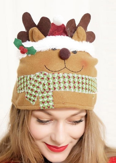 Image of Christmas Reindeer Warm Hat