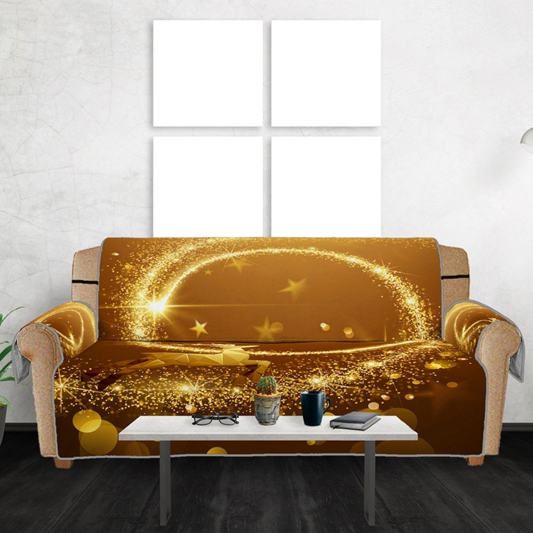 Image of Christmas Reindeer Star Sofa Cover