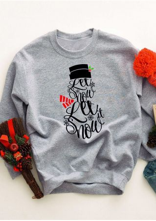 Let It Snow O-Neck Sweatshirt