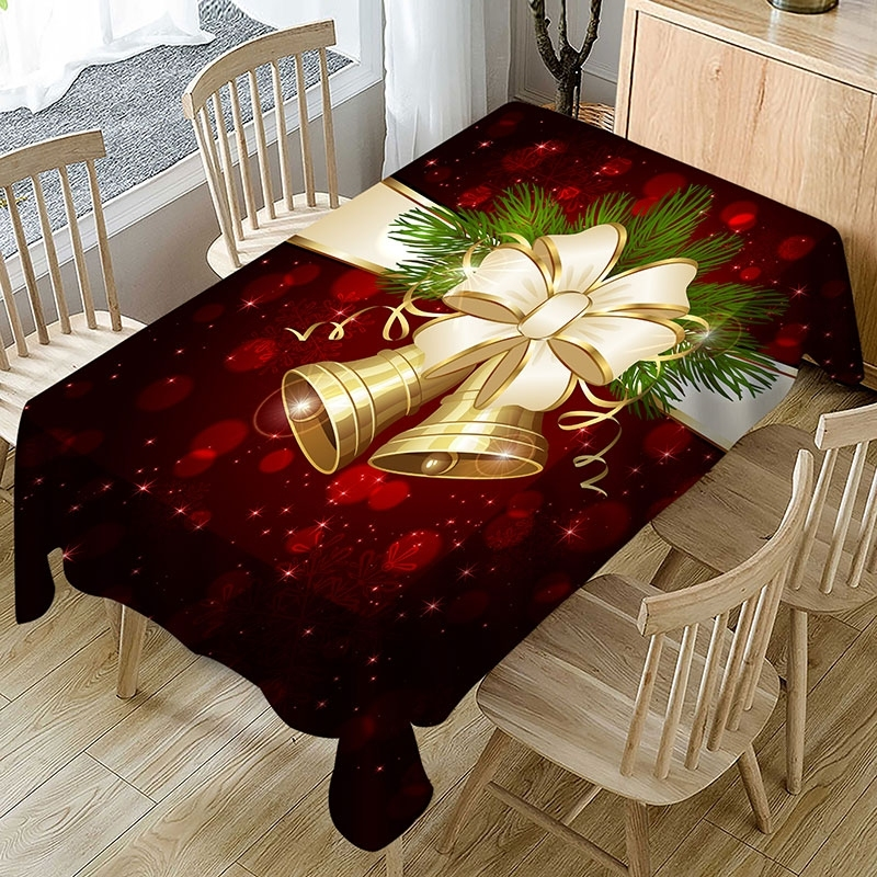 Image of Christmas Bell Waterproof Table Cloth