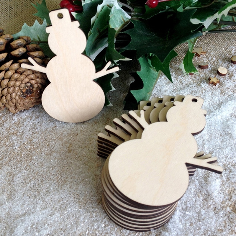 Image of 10Pcs/Set Christmas Snowman Art Craft Ornament Decoration