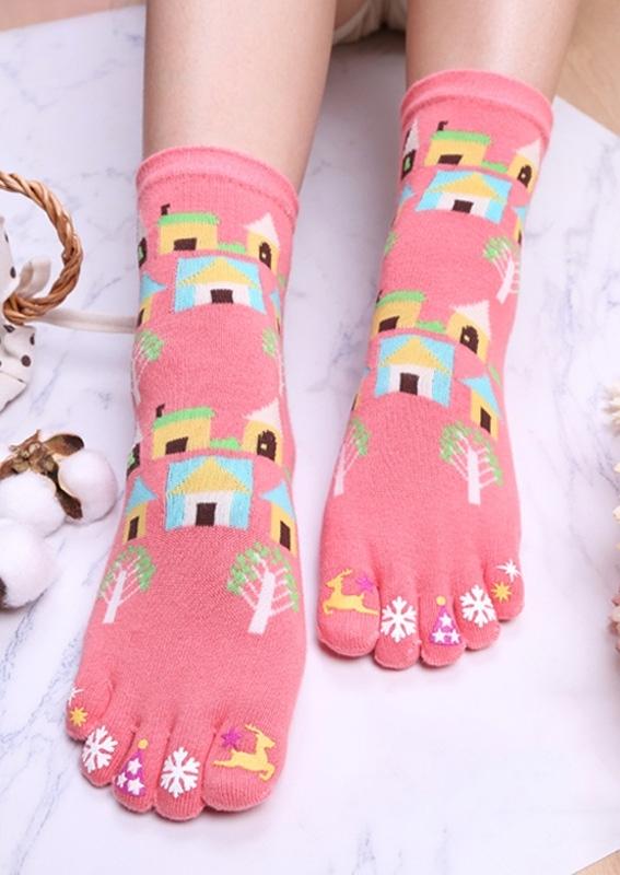 Christmas Snowflake Toe Socks