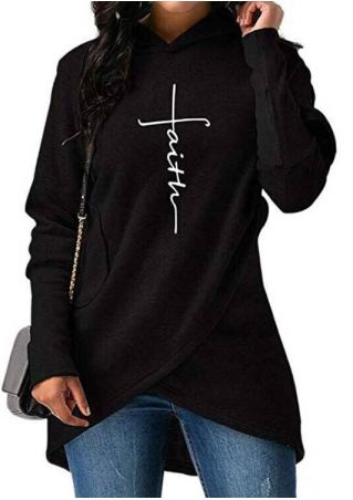 Faith Wrap Long Sleeve Hoodie