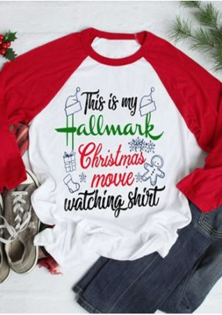 Hallmark Christmas Movie Watching Shirt Baseball T-Shirt Tee