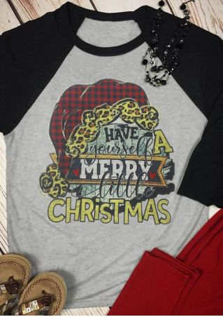 Have Yourself A Merry Little Christmas Baseball T-Shirt Tee