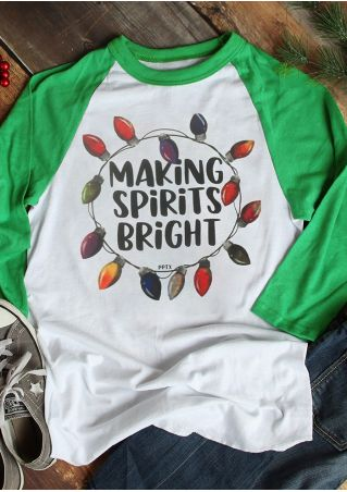 Making Spirits Bright Baseball T-Shirt Tee