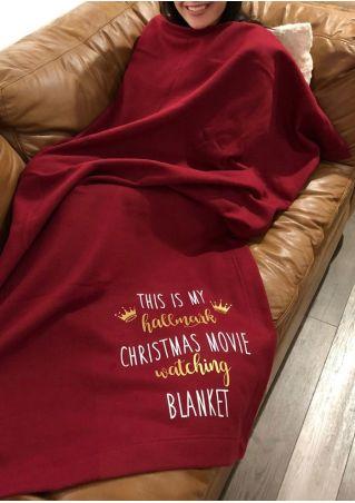Hallmark Christmas Movie Watching Blanket