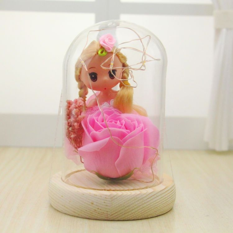 Image of DIY Girl Luminous Gift Box Rose Valentines Day Gift