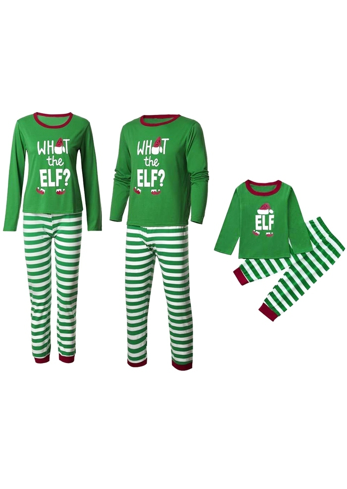 Image of Mommy Daddy and Me What The Elf Christmas Pajamas Set