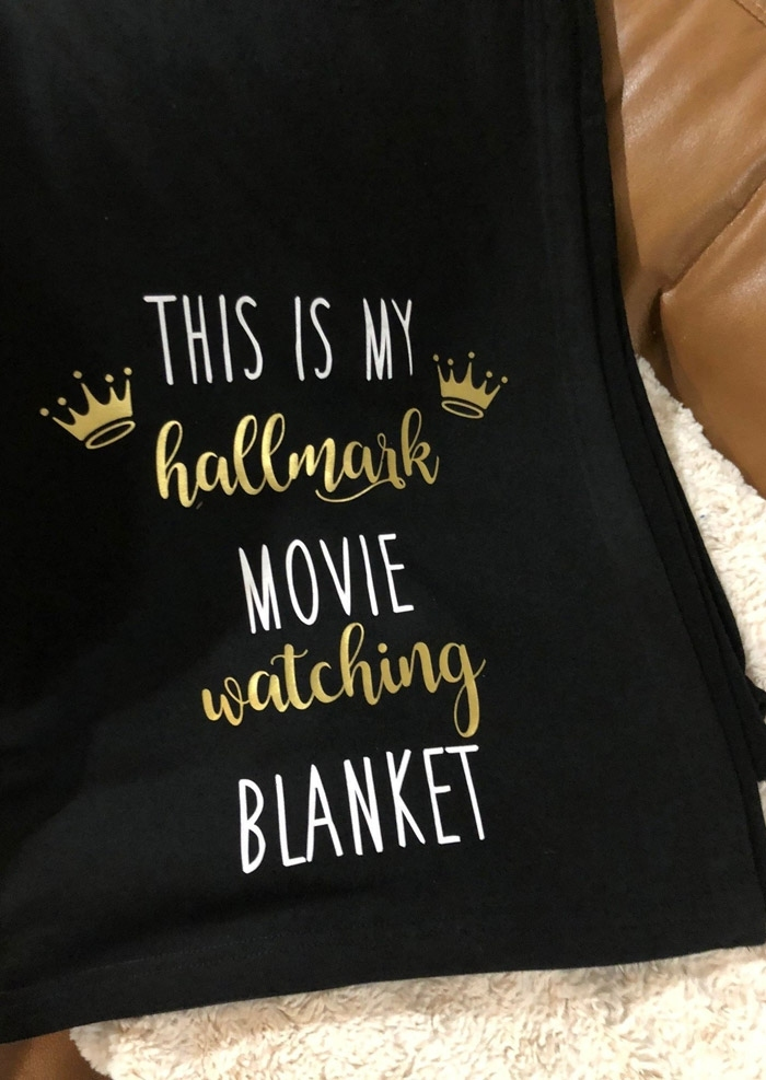 My Hallmark Movie Watching Blanket