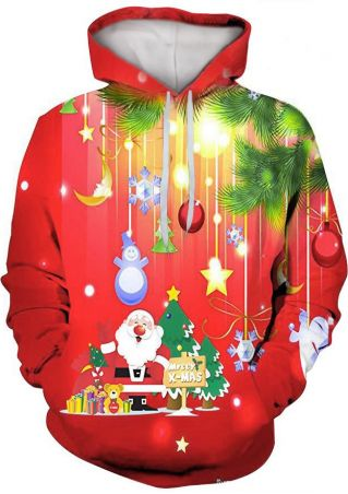 Christmas Santa Tree Ball Hoodie