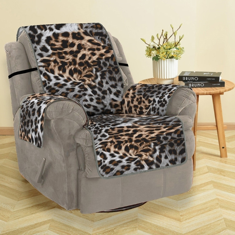 Image of Christmas Leopard Print Sofa Cover
