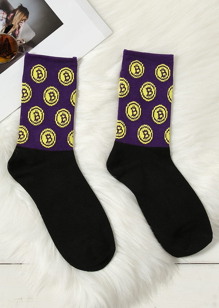 Image of Bitcoin Casual Socks