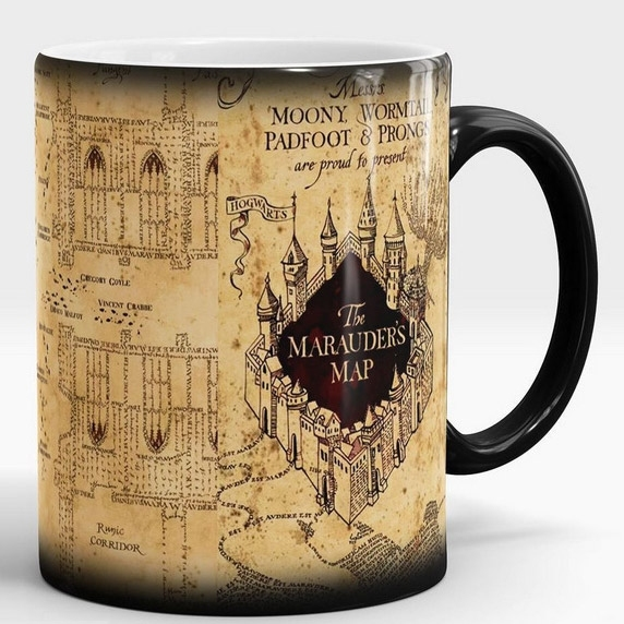 Harry Potter Marauder's Map Morphing Color Changing Mug