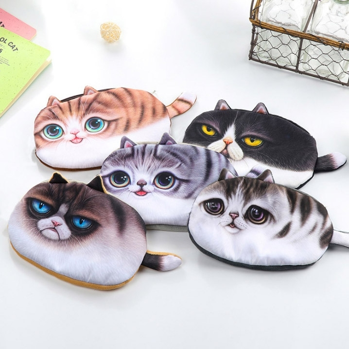 Lovely Cat Pen Storage Bag