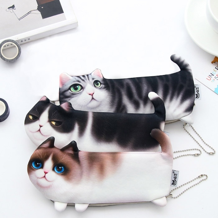 Cute Cat Pen Storage Bag