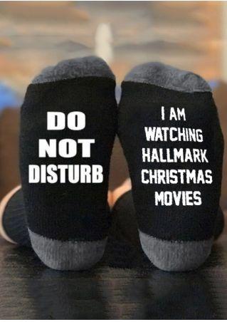 I am Watching Hallmark Christmas Movies Socks