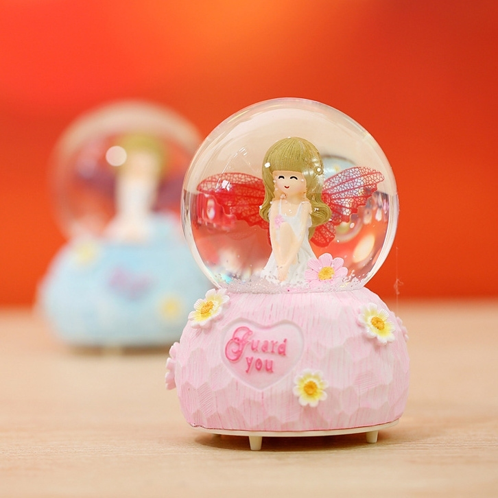 Image of Valentine Gift Angel Crystal Ball