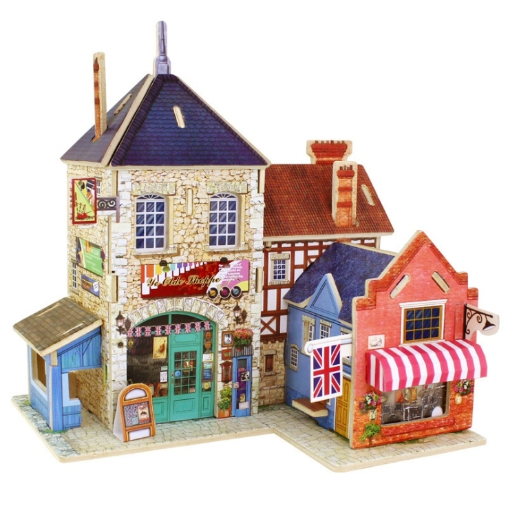 Image of 3D DIY House Building Model Craft Puzzle Toy Gift