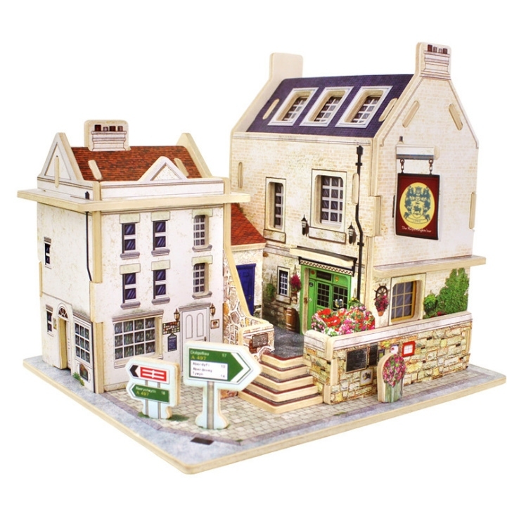 Image of 3D DIY House Building Model Puzzle Educational Toy Gift