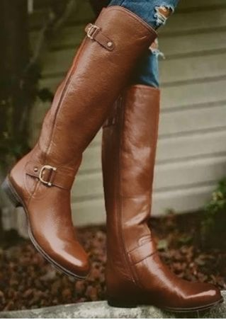 Solid Round Toe Fashion Boots