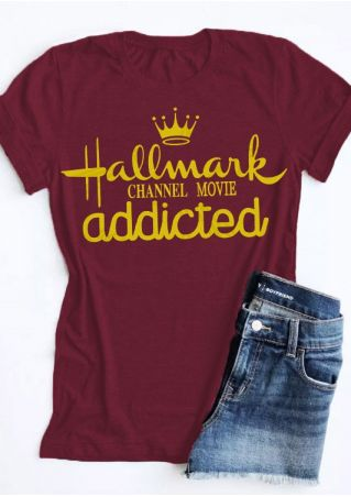 Hallmark Christmas Movie Addicted T-Shirt Tee