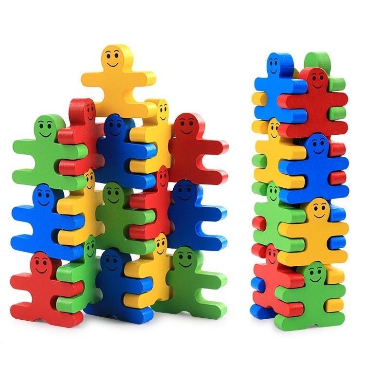 Image of Balance Villain Blocks Cartoon Puzzle Stacking Building Toys Set