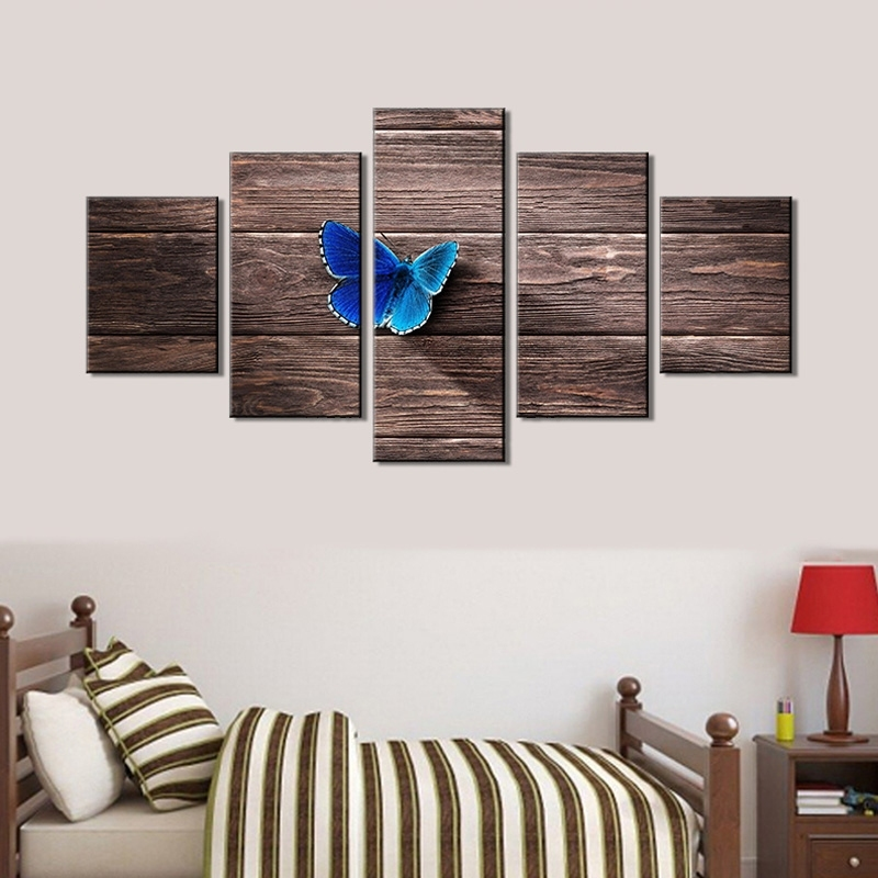 Image of 5Pcs/Set Butterfly Hanging Wall Art Painting