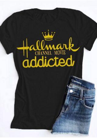 Hallmark Channel Movie Addicted T-Shirt Tee