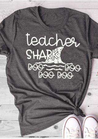Teacher Shark Doo Doo Doo Doo T-Shirt Tee